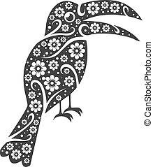 stylized, fugl