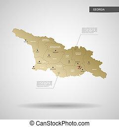 Stylized Georgia map vector illustration.