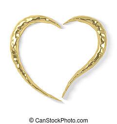 stylized gold heart
