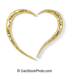 stylized gold heart