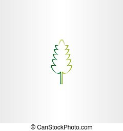 stylized green eco leaf vector icon design