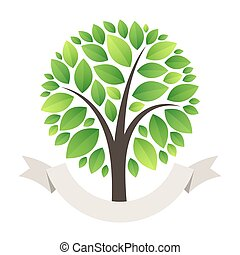 Stylized Green Tree Logo
