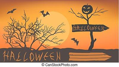 Stylized halloween lettering.