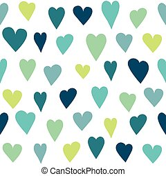 Stylized heart seamless pattern. White isolated vector ...
