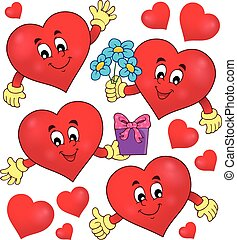 Stylized hearts theme set 1