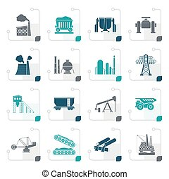 Stylized Heavy industry icons