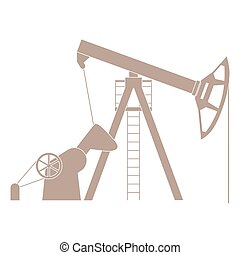 Stylized icon of the equipment for oil production