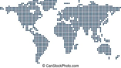 Stylized image of world map. Vector illustration