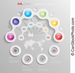 Stylized infographics presentation,option template