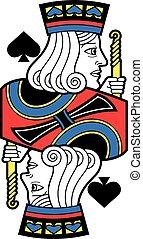 Stylized Jack of Spades no card