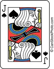 Stylized Jack of Spades