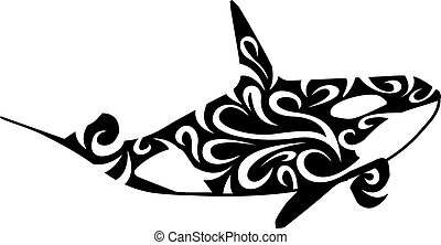 stylized killer whale