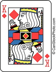 Stylized King of Diamonds