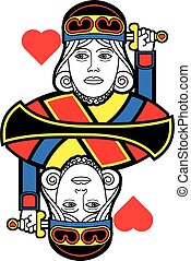 Stylized King of Hearts no card