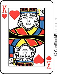 Stylized King of Hearts