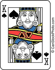 Stylized King of Spades