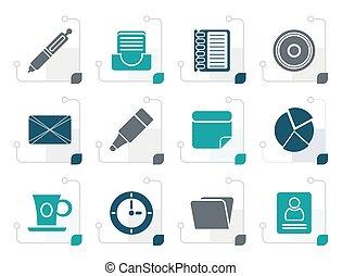 stylized, &, kontor, affärsverksamhet ikon