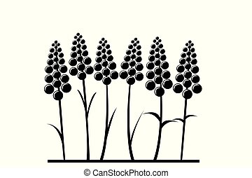 Stylized lavender flower
