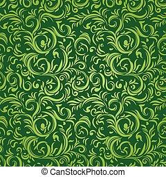 Stylized leaves pattern