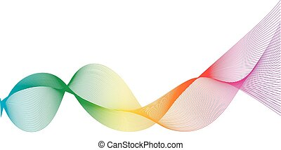 Stylized line art rainbow background, Digital sound effect equalizer frequency track, vector fresh digital pattern mixed gradients the colors of the rainbow