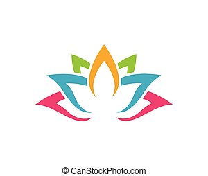 Stylized lotus flower icon vector