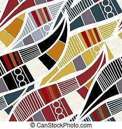 stylized, mönster, bladen, seamless
