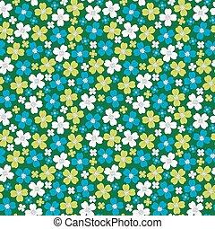 stylized, mönster, seamless, blomningen, bakgrund, blommig