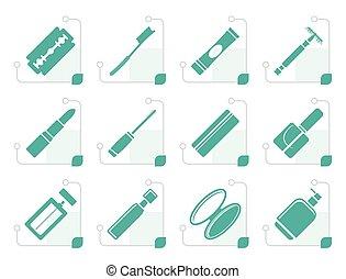 Stylized Make-up icon set