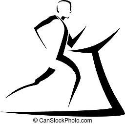 Stylized Man Running