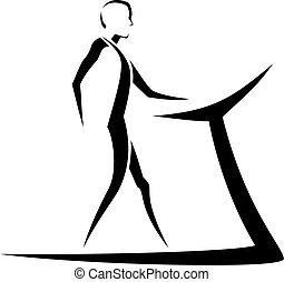 Stylized Man Walking