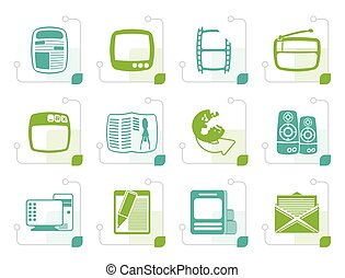 Stylized Media icons