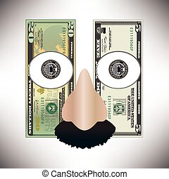 money used to make a funny face