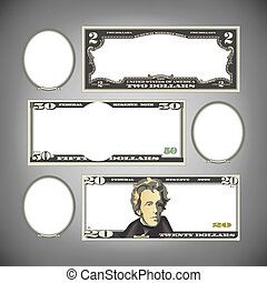 Stylized money with blank space