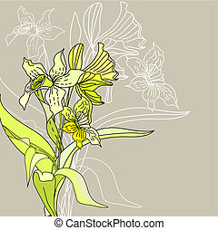 stylized narcissus flowers