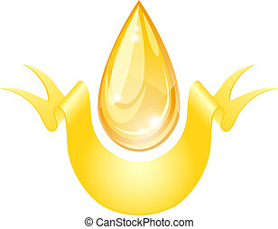 Stylized oil drop. Vector illustration.