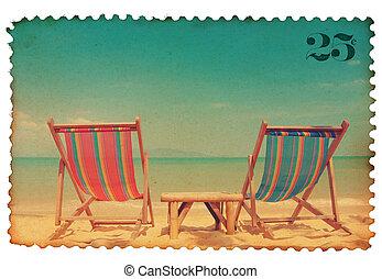 stylized, ouderwetse , postzegel