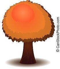 stylized, outono, árvore