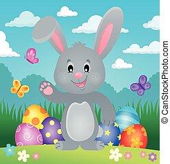 stylized, påsk kanin