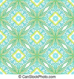 stylized, padrão, flores, vetorial, seamless