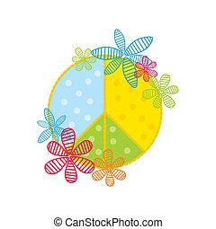 stylized peace symbol