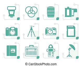 Stylized Photography equipment icons