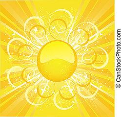 stylized, ponha ao sol experiência