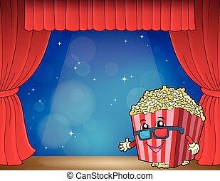 Stylized popcorn theme image 3