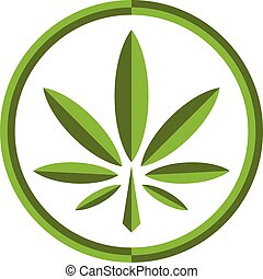 stylized, pot, groene, marihuana, wiet