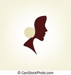 stylized, profil