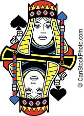 Stylized Queen of Spades no card