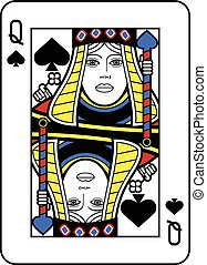 Stylized Queen of Spades