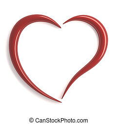 stylized red heart