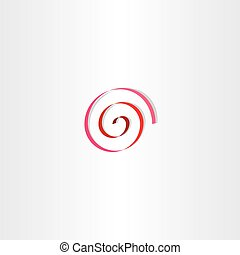 stylized red spiral ribbon sign