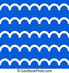 Stylized seamless pattern